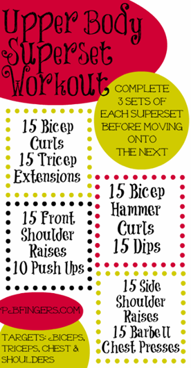 upper body super set workout
